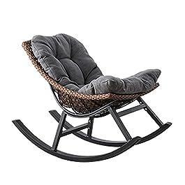 Chaise De Imitation Rotin, Fauteuil D'intérieur Ou D'extérieur pour Jardin en avec Coussin D'assise Chaise en Osier…