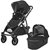 2018 UPPAbaby VISTA Stroller, Jake (Black/Carbon/Black Leather)