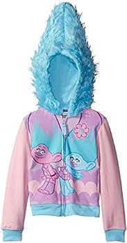 DreamWorks Trolls Girls  Little Character Costume Hoodie Light Pink/Light Blue S-4