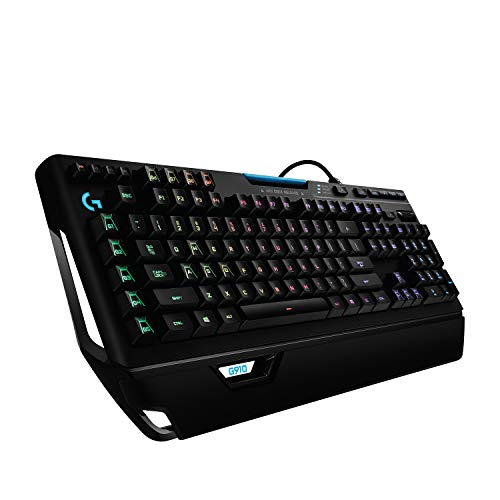 Logitech G910 Orion Spectrum Mechanische Gaming-Tastatur, RGB-Beleuchtung, Taktile Romer-G Switches, 9 Programmierbare G-Tasten, Anti-Ghosting, ARX-Zweitbildschirm Feature, Deutsches QWERTZ-Layout