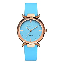 SheShiLs Luxury Women Bracelet Watches Ladies Watches Geneva Silica B Analog Quartz Wrist Watch Blue