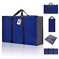 Oxford Cloth Thick Extra Strong Best Seller Berri Bag. Attractive Blue Colour, Waterproof Material, Foldable, Washable, Dust Resistant, Long Lasting, Durable, Strong Handles, Thick Stitching, Double Zipper with Zip Tabs, Protective Inlayer to Prevent...