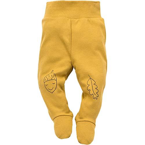 Pinokio - Secret Forest - Pantalon Bébé Enfants Garçons Barboteuse Pantalon Nouveau-né 100% Coton de Sommeil Jaune Bleu Marine 56 62 68 74 cm (56 cm, Jaune)