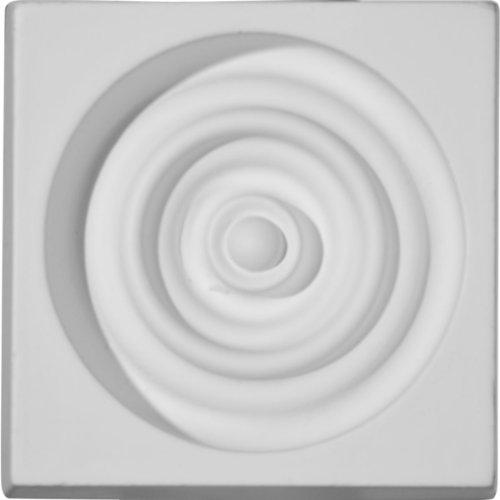 Ekena Millwork PB03X03X01DE 3 1/4-Inch W x 3 1/4-Inch H x 1 1/8-Inch P Devon Plinth Block