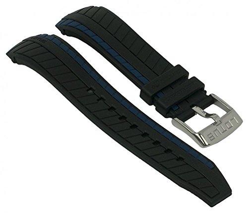 Lotus Ersatzband aus der Serie Marc Marquez Herren Chrono - Ersatzband aus Kunststoff für L18103, Farbe:schwarz / blau