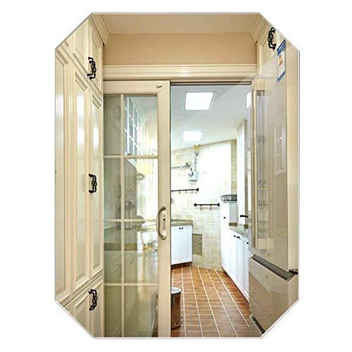 YHFX Espejo de Pared Octogonal sin Marco para baño, Espejo de tocador único y Transparente para Montar en la Pared, Vidrio, Transparente, 45 * 60cm