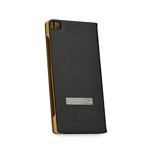 Huawei P8 View Flip Tasche schwarz
