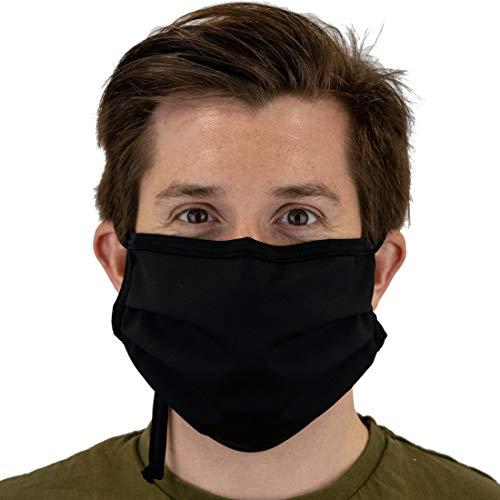 sporthoch2 2er-Pack Mundschutz Maske HI STANDARD, Premium Qualität - Made in Germany, nachhaltig, wiederverwendbar, in 2 Farben + 3 Verschlussarten wählbar (weiß, Ohrverschluss)