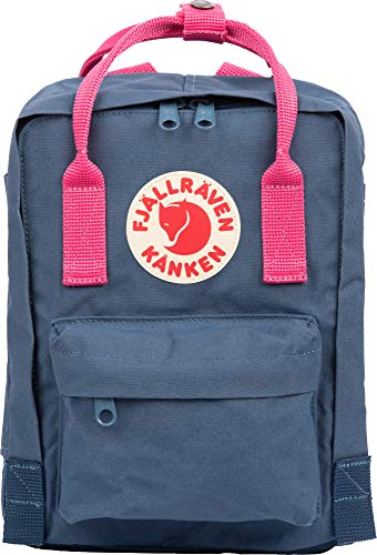 FJALLRAVEN Kånken Mini Mochila, Adultos Unisex, Royal Blue-Flamingo Pink (Azul), 7 l