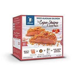 Fishpeople Wild Alaskan Salmon Kit - Cajun Shrimp & Sweet Red Pepper (2 fillets + Crunchy Topper + R