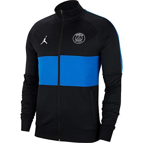 Nike Herren Sport Jacket PSG M NK DRY ACD TRK JKT K, black/hyper cobalt/hyper cobalt/(white) (no sponsor-plyr), L, AO7417