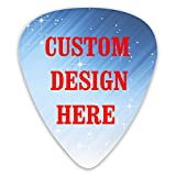 12 Pcs Custom Guitar Picks, Personalized Add Your Image Text Light Medium Thin Unique Guitar Gift For Bass, Electric & Acoustic Guitars