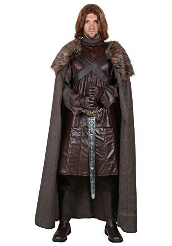 Disfraz de rey del norte para hombre, talla grande, para hombre - Marrn - 3X