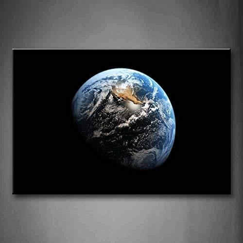 NIMCG Picture Wall Art Earth Space Stampa su Tela Space Poster Moderno con Decorazioni per la casa e L'Ufficio (Senza Cornice) R1 30x45CM