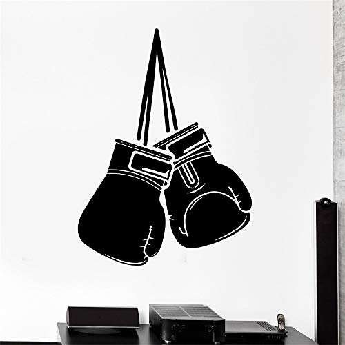 Fototapete Sport Box Boxhandschuhe Kampfsport Kampf Vinyl Aufkleber schwarz 114cm x 149cm