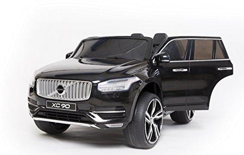RIRICAR Volvo XC90 Voiture-Jouet électrique pour Enfant, Noir, 2.4Ghz contrôle á Distance, Deux Moteurs, Deux sièges en Cuir, Licence Originale