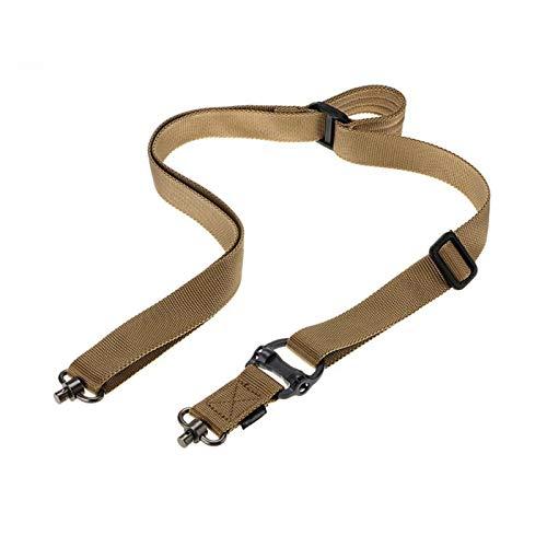 KTSM-Stop-T Duradero Misión de Cuerda táctica Ajustable Dos 2 Puntos Táctico Rifle Pistola Sling Destacado Rápido Trampa para Cuerda de Nylon Outdoor Cuerda Correa de Rifle (Color : TA)
