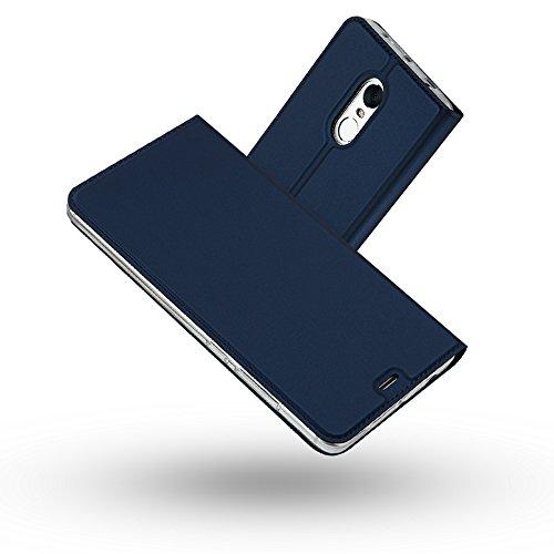 Radoo Funda Redmi Note 4, Slim Case de Estilo Billetera Carcasa Libro de Cuero,PU Leather con TPU Silicona Case Interna Suave [Función Soporte][Cierre Magnético] para Xiaomi Redmi Note 4(Azul)