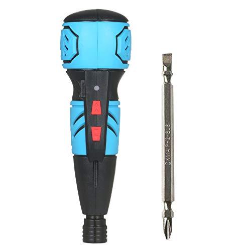 Walmeck Destornillador inalámbrico Mini destornillador eléctrico recargable USB Destornillador de taladro eléctrico de mano portátil con luz LED