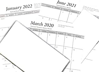 3 Year 2020 21 22 Pocket Calendar Planner Kit with Covers,Card Stock & Note Pads Birthday Anniversary Pages
