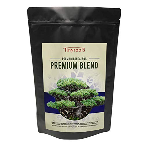 Tinyroots Premium Bonsai Tree Soil - Organic Soil Mix, Excellent for Water Retention and Root Development + Made from Genuine Akadama, Red Lava Rock and Pumice, 2 Quart