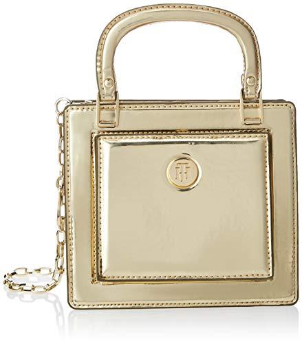 Tommy Hilfiger - Th Fashion Crossover Metallic, Bolsos bandolera Mujer, Dorado (Gold), 8.5x16.7x18.8...