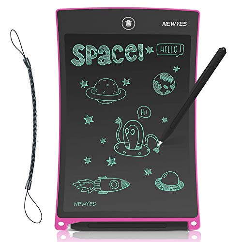 NEWYES Tableta de Escritura LCD 8.5 Pulgadas, Pizarra Digital, Tablet para Niños (8.5' Rosa)