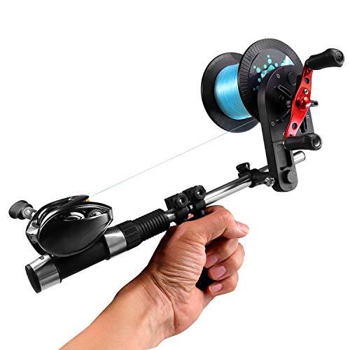 ハンドヘルド 釣りライン巻 巻き替え 巻き直し 高速リサイクラー ポータブル ライン巻 (黒)