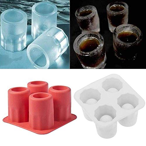 DFKDGL Eiswürfelschale Form DIY Pudding Schokolade Eisform, weiß, USA EIS am Stiel Formen Set