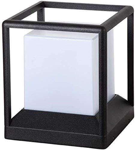 Accesorios de construcción Lámpara de mesa impermeable 27 Pantalla de acrílico Alta transmisión de luz Lámpara de pared exterior Pilar portátil Luz de césped de estigma para terraza de patio Linter
