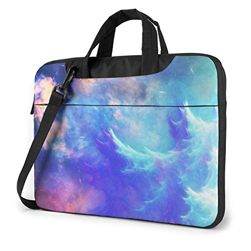 Laptop Shoulder Bag Carrying Laptop Case 14 Inch, Cloud Fancy Nebula Computer Sleeve Cover with Handle, Business Briefcase Protective Bag for Ultrabook, MacBook, Asus, Samsung, Sony, Notebook