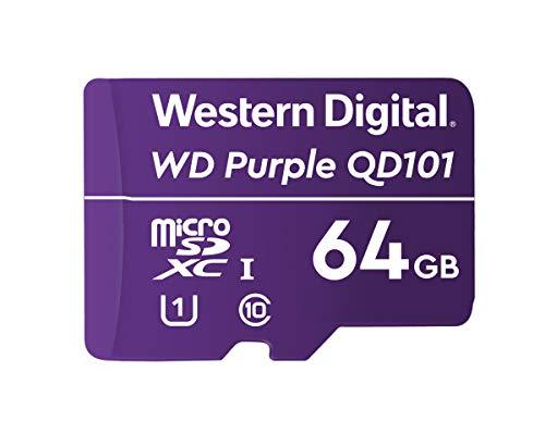 Western Digital WD Purple 64GB Surveillance and Security Camera Memory Card for CCTV & WiFi Cameras (WDD064G1P0C)