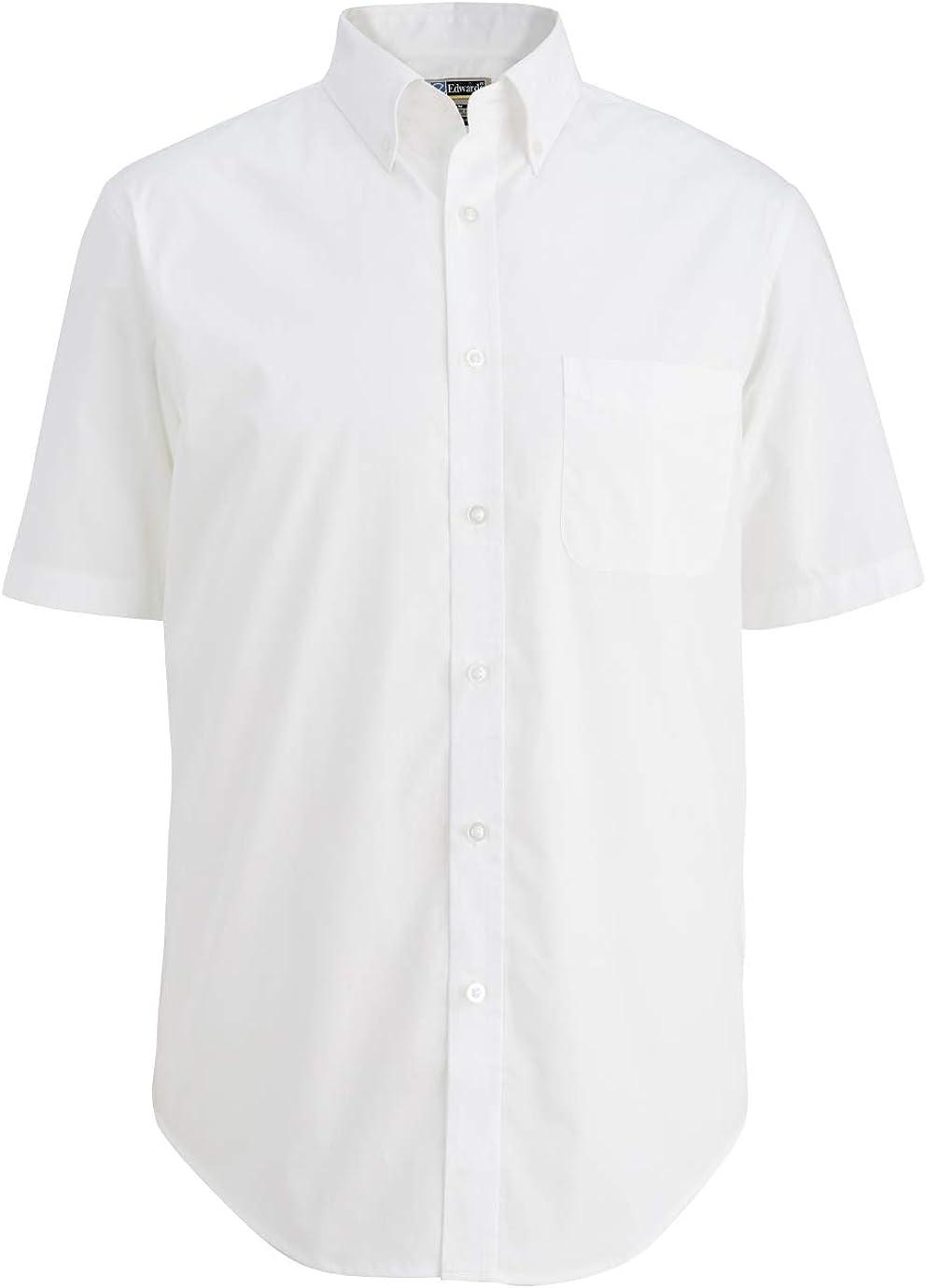 Averill's Sharper Uniforms Men's Restaurant Poplin Comfort Stretch Short Sleeve Shirt
