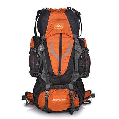 BBYaKi 85 L Randonnée Pack Sac À Dos Escalade Camping & Randonnée Multifonctionnel , Black