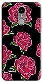 Mixroom - Coque en TPU silicone souple pour LG K8 2017 M743 Rose fond noir