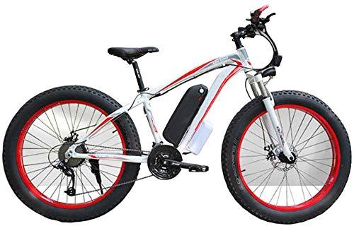 XDHN Bicicleta Eléctrica Heatile Motor Sin Escobillas De 350 W Batería De Litio 48V10Ah Faros Delanteros Led Adaptables Neumáticos Antideslizantes Adecuado para Hombres Y Mujeres, Rojo