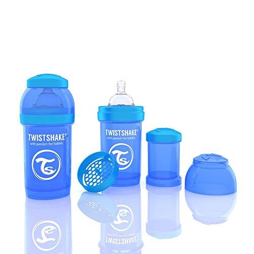 Twistshake 78002 Biberon anti-coliche, Blu, 180 ml