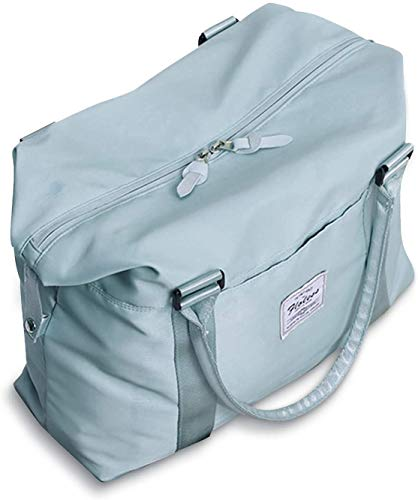 Sac de voyage pour femme, sac de sport, sac à bandoulière pour ordinateur portable de 15,6 pouces, bleu ciel (bleu) - 4093AA