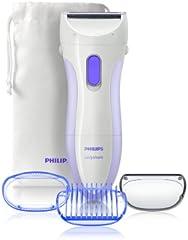 Philips HP 6342/00 - Afeitadora femenina para todo el cuerpo con cabezal pivotante y bolsa de transporte