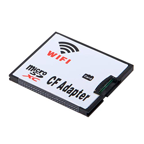 RGBS WiFi - Adaptador de Tarjeta de Memoria TF Micro SD a CF Compact Flash Card Kit para cámara Digital DSLR