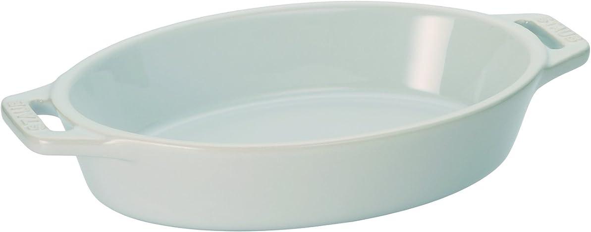 能力数銀河staub ストウブ 「 オーバル ディッシュ ホワイト 17cm 」 セラミック グラタン皿 オーブン 電子レンジ対応【日本正規販売品】 Dish 40508-599