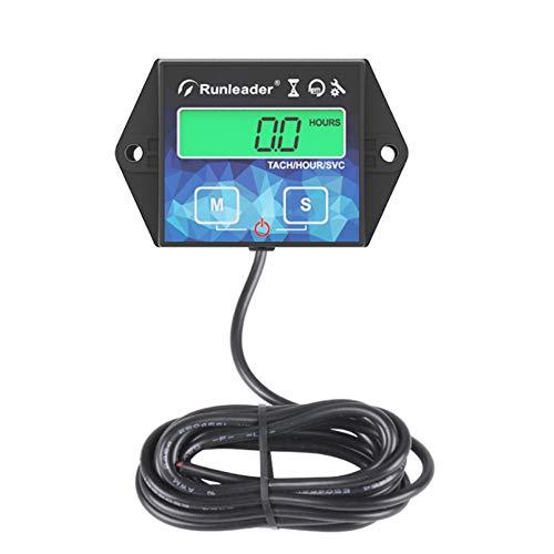 Compteur horaire du moteur rétro-éclairage Tachymètre inductif Compteurs d'heures Tacho...