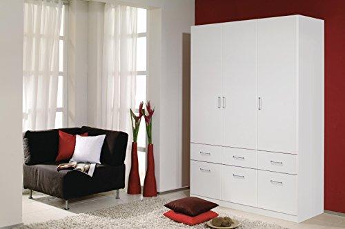 Rauch A9N69-3851 Aalen Weiß Kleiderschrank Jugendzimmerschrank Schrank 3türig mit 6.