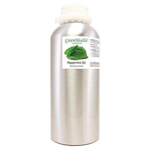 32 oz Peppermint Essential Oil (100% Pure & Uncut), Aluminum Bottle - GreenHealth