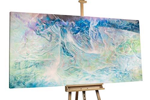 KunstLoft® XXL Gemälde 'Ocean Dream' 200x100cm | original handgemalte Bilder | Abstrakt Blau Wasser XXL | Leinwand-Bild Ölgemälde einteilig groß | Modernes Kunst Ölbild
