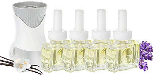 (4 Pack) Scent Fill® New Version Vanilla Lavender Plug in Refills and (1) Air Wick® PlugIn Warmer