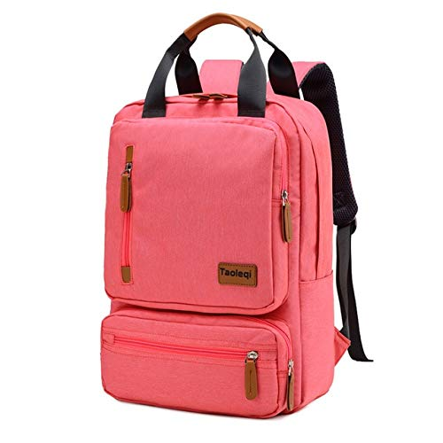 Mdsfe Casual Business Men Computer Backpack Light 15.6-inch Laptop Bag 2020 Lady Anti-Theft Travel Backpack Gray - Pink, a2