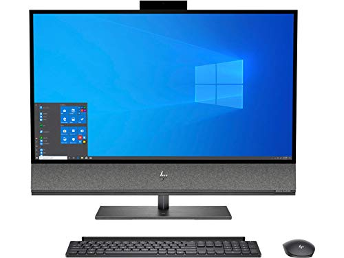 HP Envy 32-a1001ns All-in-One Desktop-PC (Intel Core i7-10700, 16 GB RAM, 1 TB SSD, GeForce GTX 1650, Windows 10 Home 64) Aluminium schwarz