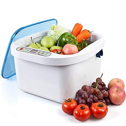 ZRZJBX Esterilizador ultrasónico de Frutas Vegetales de ozono de Uso doméstico de 12.8L, Limpiador, arandela, Salud