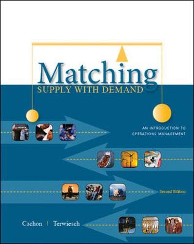 Matching Supply with Demand: An Introduction to...